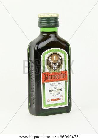 Spencer Wisconsin January272016 Bottle of Jagermeister alcohol beverage Jagermeister is a German made beverage founded in 1935