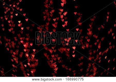 red and pink hearts background bokeh effect saint valentine's day
