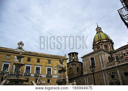 Piazza Pretoria, o della vergogna, di Palermo - Sicilia
