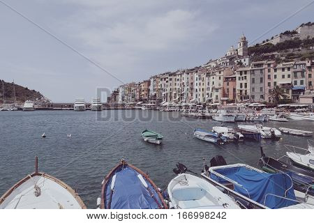 Portovenere Port View On A Summer Day