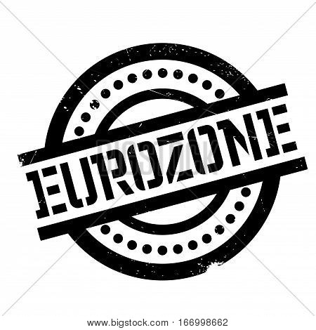 Eurozone rubber stamp. Grunge design with dust scratches. Effects can be easily removed for a clean, crisp look. Color is easily changed.