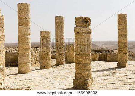 ruin of Avdat in Negev desert, Israel