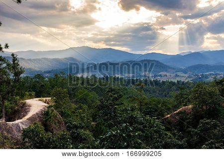 Pai Canyon At Mae Hong Son Province
