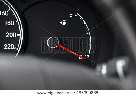 Fuel Dashboard close up. Fuel Dashboard close up