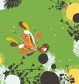 bird cool blooming wallpaper poster