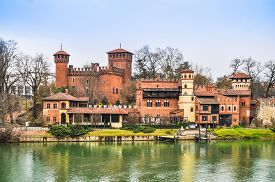 Hdr Medieval Castle In Turin