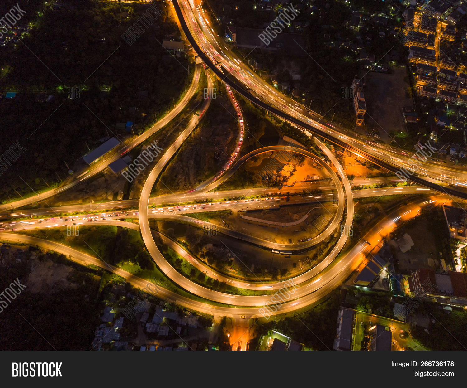 Aerial View Highway Image Photo Free Trial Bigstock
