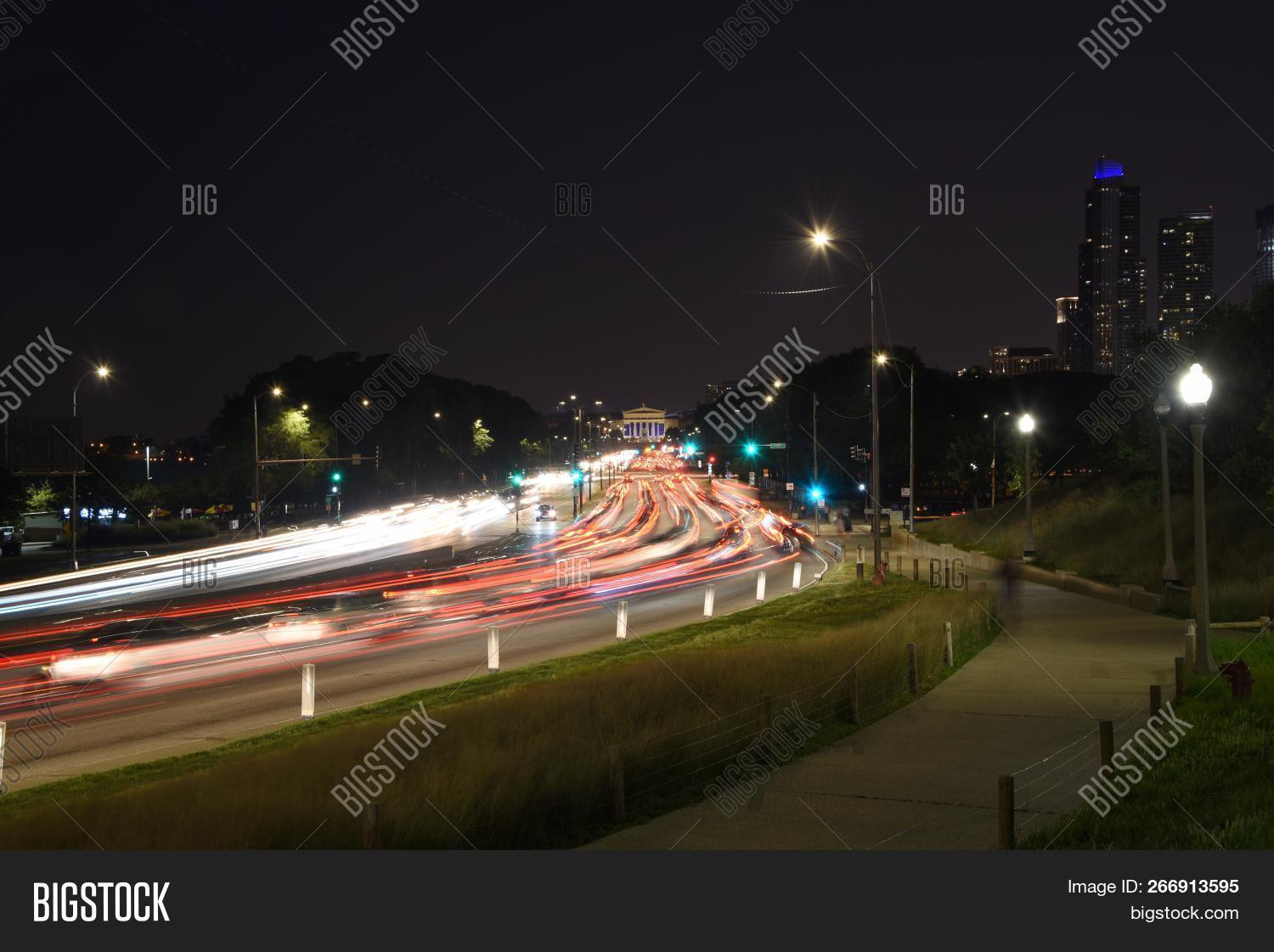 Cars Red White Trails Image Photo Free Trial Bigstock