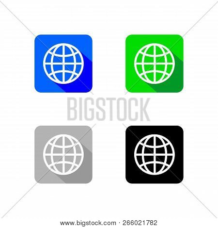 World Wide Web Icon App Collection, World Wide Web App Vector, Web Icon App, Web Icon