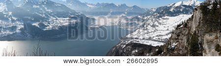 Winter view of Walensee lake, Switzerland