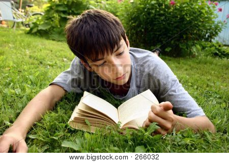 Teen And Book