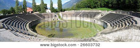 Roman amphitheater in Martigny, Switzerland