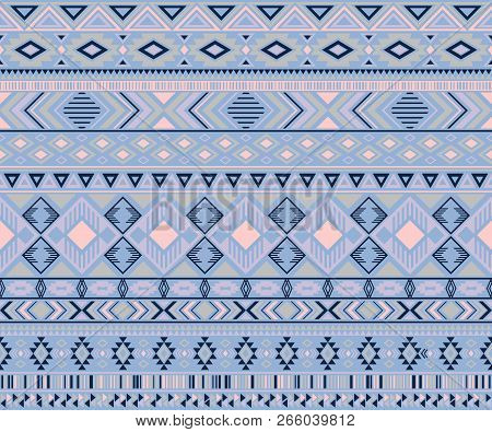 Navajo American Indian Pattern Tribal Ethnic Motifs Geometric Seamless Background. Doodle Native Ame