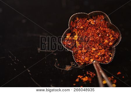 Calabrian Chilli Pepper flakes or  Little Devil southern Italy  spicy pepper
