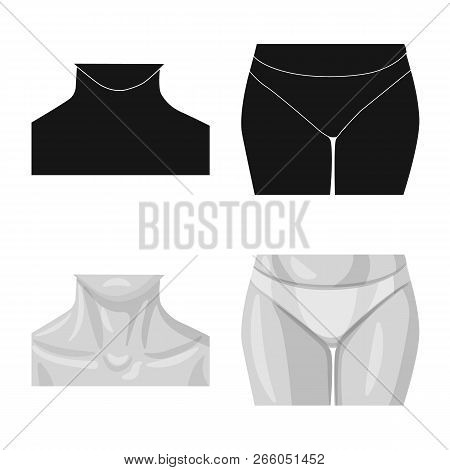 Vector Design Of Human And Part Logo. Set Of Human And Woman Vector Icon For Stock.