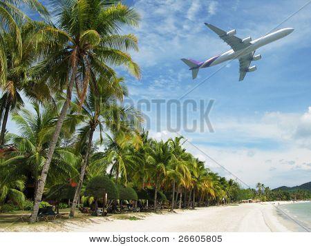 Tropical beach of Langkawi island