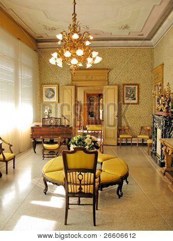Interior of villa Monastero. Lake Como, Italy
