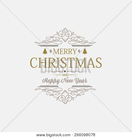 White greeting merry christmas decorative card with wishes, snowball and others decorative symbols concerning celebration vector illustration poster