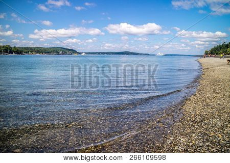 A Spectacular View Of A Bay In Bar Harbor, Maine
