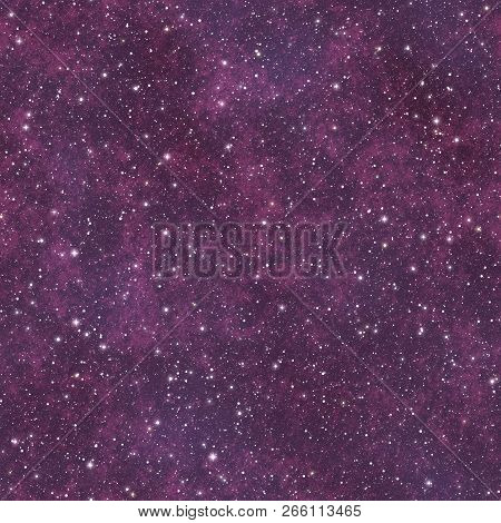 Starrs In Outer Space Seamless Background Or Texture Illustration