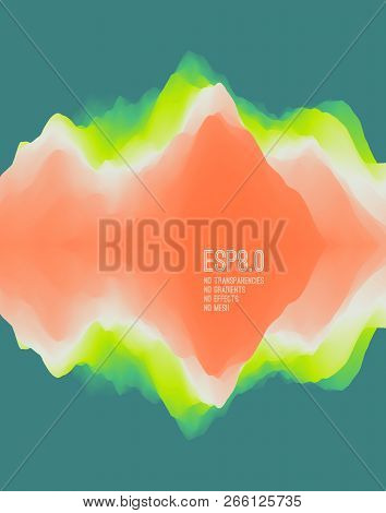 Abstract wavy background with reflection. Trendy gradients with symmetry. Dynamic effect. Modern screen vector design for mobile app. and wed. Can be used for advertising, marketing, presentation. poster