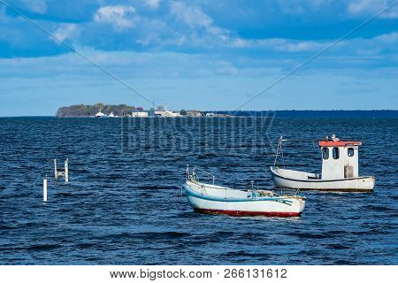 Boats On The Baltic Sea In Denmark.