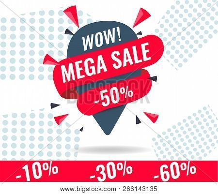 mehrere farben Super Specials präsentieren Today Only Mega Sale Vector & Photo (Free Trial) | Bigstock