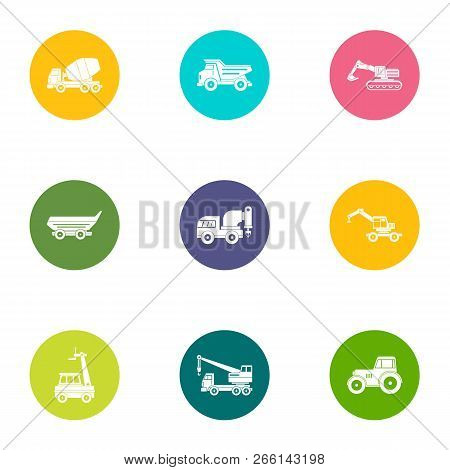 Operating Personnel Icons Set. Flat Set Of 9 Operating Personnel Icons For Web Isolated On White Bac