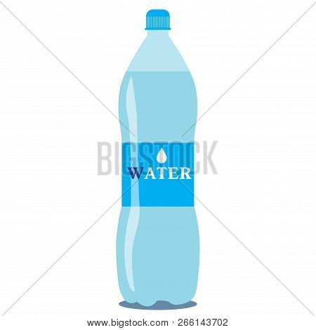Vector 1 Litre Bottle Of Pure Water On A White Background