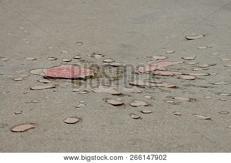 """Sarajevo """"Roses"""" (Mortar craters symbolically filled with red cement) - Bosnia Herzegovina poster"""