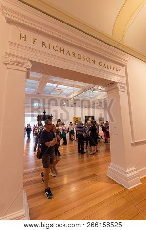 Geelong, Australia - October 14, 2018: The Geelong Art Gallery Is A Regional Art Gallery, Hosting Th
