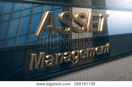 3d Illustration Of Serious Asset Management Company Buiding Facade