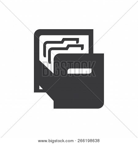 File Folders Vector Icon On White Background. File Folders Icon In Modern Design Style. File Folders