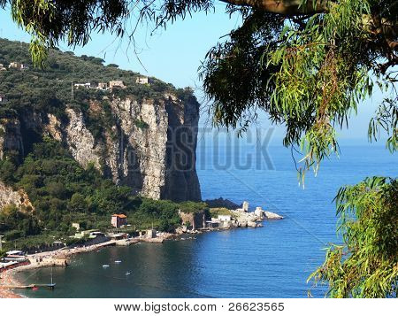 the home of a village on the coast of Sorrento poster