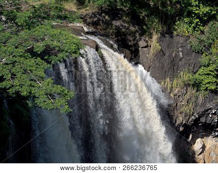 Wailua Falls - Dramatic Double Waterfall Known For Rainbows & Its Place In The