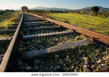 landscape for a old railway abandoned