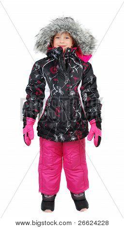 Little Girl In Ski Wear