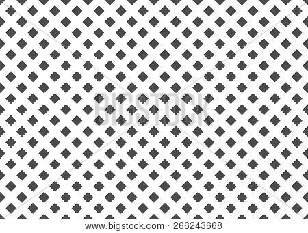 Abstract Background With Grey Squres, Vector Seamless Pattern, Simple Illustration
