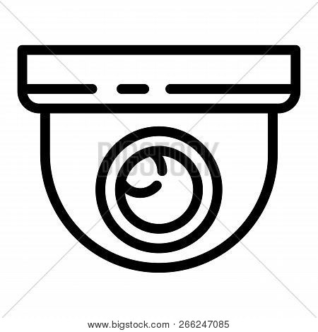 Indoor Secyrity Camera Icon. Outline Indoor Secyrity Camera Vector Icon For Web Design Isolated On W