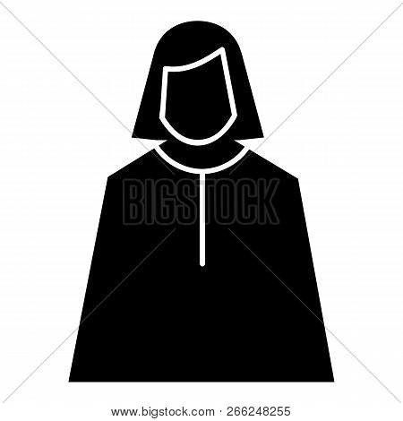 Female Judge Icon. Simple Illustration Of Female Judge Vector Icon For Web Design Isolated On White