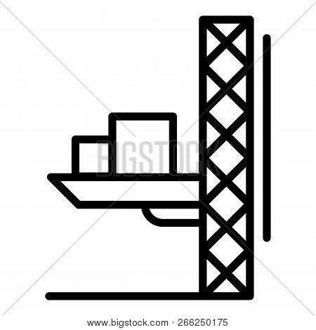 Lift crane platform icon. Outline illustration of lift crane platform vector icon for web design isolated on white background poster
