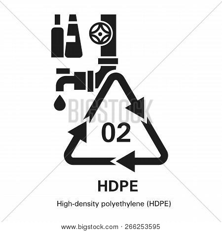 High Density Polyethylene Icon. Simple Illustration Of High Density Polyethylene Vector Icon For Web