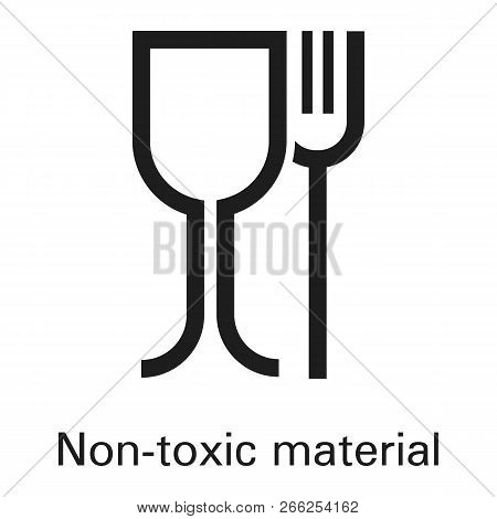 Non Toxic Plastic Material Icon. Simple Illustration Of Non Toxic Plastic Material Vector Icon For W