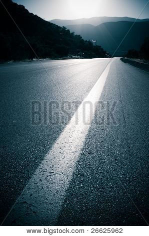 backlit for road and line roadside