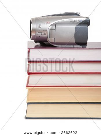 Video Camera On Books