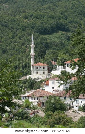 the Sariyerkoy mosque in the hamlet Kidaris, a pomak village of musulman minority in the Thrace Greece