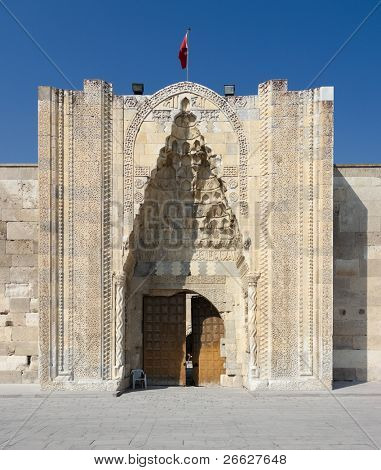 the magnificent entrance to the Sultanhani caravansary on the Silk Road, Turkey