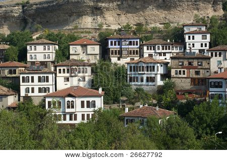 traditional houses ottoman in old village of Safranbolu, Turkey poster