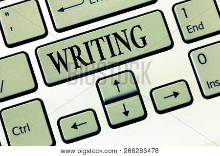 Word Writing Text Writing. Business Concept For Action Of Write Something Making Important Notes Let