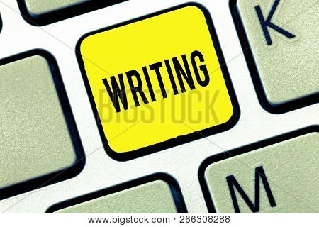 Handwriting Text Writing Writing. Concept Meaning Action Of Write Something Making Important Notes L